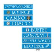 "Cutouts-Cruise Ship Signs-4pkg-4""x24"""