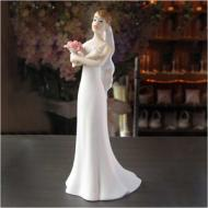 Cake Topper-Caucasian Exasperated Bride-14cm