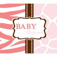 Invitations-Wild Safari Pink-8pkg