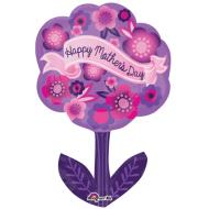 "Foil Balloon - Happy Mother's Day Flower - 18""x28"""