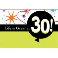 Invitations-Life is Great at 30-8pkg