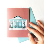 Italianate Shotgun House Greeting Card