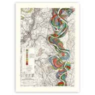 Mighty Meandering Mississippi River 18x24 Art Print - Sheet 14