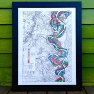 Mighty Meandering Mississippi River Print Sheet 14