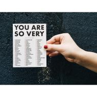 You Are: Check All That Apply Greeting Card