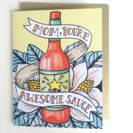 Awesome Sauce Greeting Card