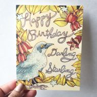 Happy Birthday Darling Starling Card