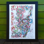Mighty Meandering Mississippi River 18x24 Art Print - Sheet 11