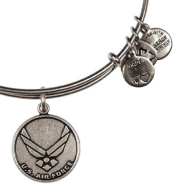 Alex & Ani Bracelet US Air Force Rafaelian Silver Finish