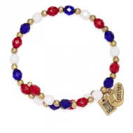 Alex & Ani Team USA Beaded Wrap Rafaelian Gold Finish