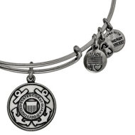 Alex & Ani Bracelet US Coast Guard Rafaelian Silver Finish