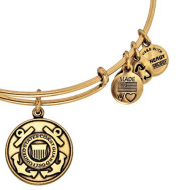 Alex & Ani Bracelet US Coast Guard Rafaelian Gold Finish