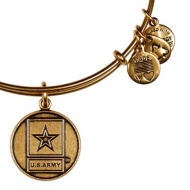 Alex & Ani Bracelet US Army Rafaelian Gold Finish