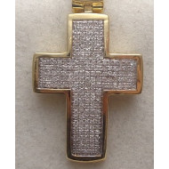 10K YG .67ctw Diamond Cross