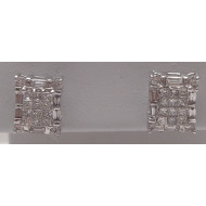 14k wg 1.00ctw diamond earrings