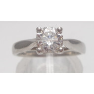 Platinum .75ctw Si1 G Cert7764 diamond ring
