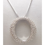 14K WG 1.00ctw Diamond Pendant with White Gold Necklace