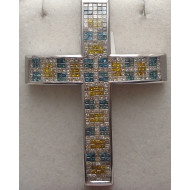 14K WG 10 ctw Diamond Cross