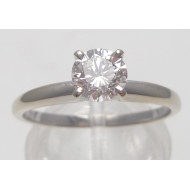 14k wg .50ctw Si2 H diamond ring