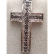 10K WG 1.00ctw Diamond Cross