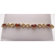 10K Yellow Gold Garnet Bracelet