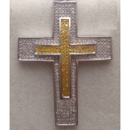 14K wg 1.50ctw Diamond Cross