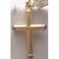 14K YG Mens Cross
