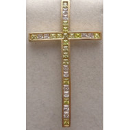 14K Yellow Gold Mens Cross