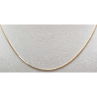 14k yg 19 inch box necklace
