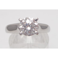 14k wg 1.00ct Si2 F diamond ring