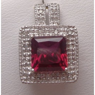 10k wg ruby diamond pendant