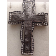 Black Gold 3ctw Diamond Cross
