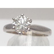 14k wg 1.00ctw Si2 I diamond ring