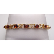 14K Yellow Gold Garnet Bracelet