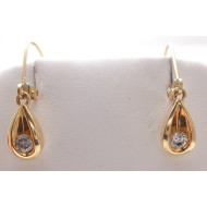 14k yg .25ctw diamond earrings