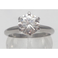 Platinum 1.22ctw Si2 H diamond ring