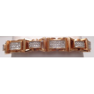 14K Rose Gold 6.50ctw Diamond Bracelet