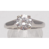 14k wg .97ctw Si2 H diamond ring