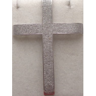 14k wg 3.00ctw Diamond Cross