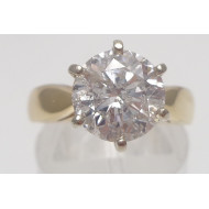 14k yg 2.17ctw I2 H diamond ring