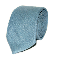 Raw Silk Tie - Light Blue