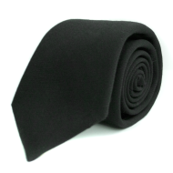 Core Wool Twil Tie - Black