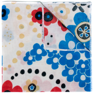 Red / Blue Poppy Pocket Square