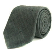 Raw Silk Tie - Grey