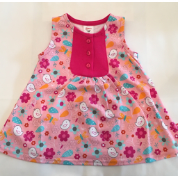 Zutano Darling Dress Friendly Bird 2T