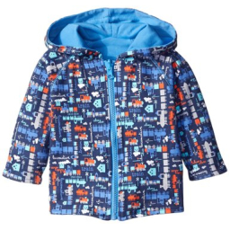 Zutano Little Engine Reversible Zip Hoodie