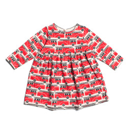 Winter Water Factory Geneva Baby Dress Firetrucks