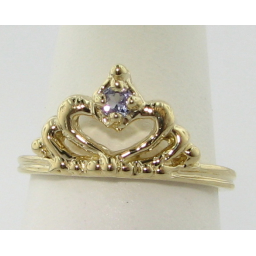 Tanzanite Yellow Gold Ring, Tiara