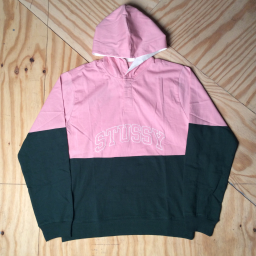 Blocked Hooded Jersey Pink / Olive