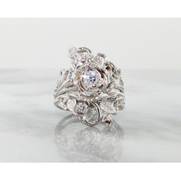 Diamond White Gold Wedding Set, Jane Rose